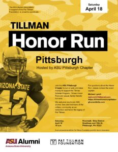 Tillman Honor Run Pittsburgh 2020