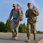 Airmen on a ruck walk