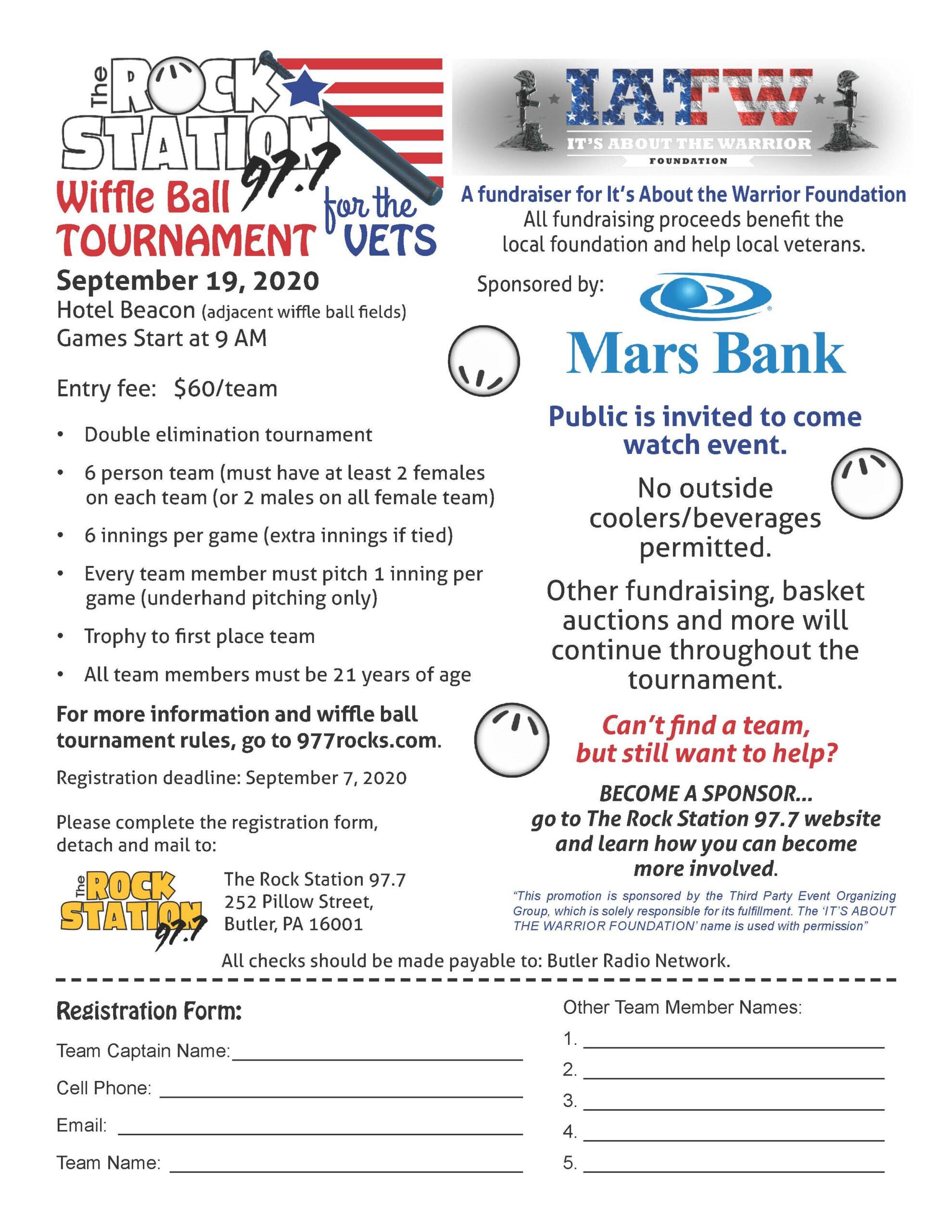 Rock Station Wiffle Ball Tournament reg 2020